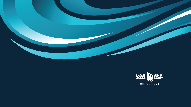 Official Counsel of the Niagara 2022 Canada Summer Games